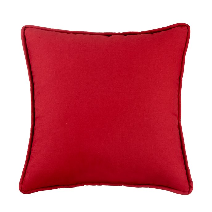 West Bay Solid Square Pillow - Red Thumbnail
