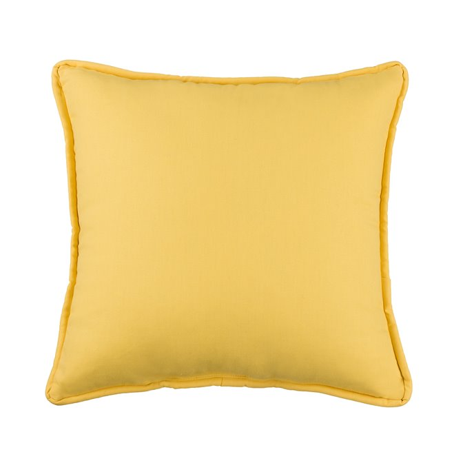 West Bay Solid Square Pillow - Yellow Thumbnail