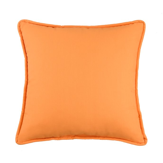 West Bay Solid Square Pillow - Tangerine Thumbnail