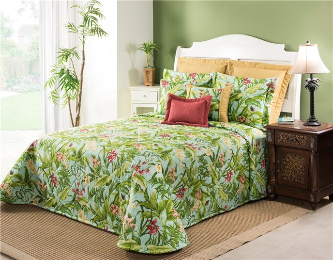 Wailea Coast Bloom Bedspread-Full Thumbnail