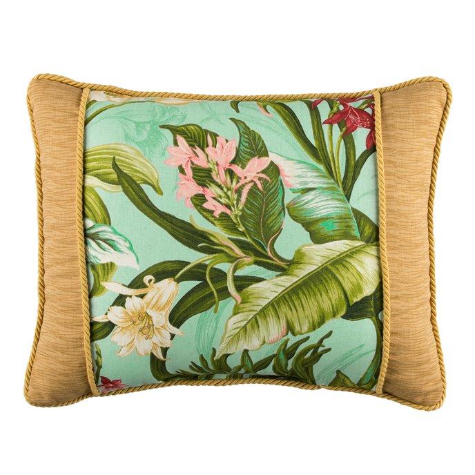 Wailea Coast Bloom Breakfast Pillow - Pieced Front Thumbnail
