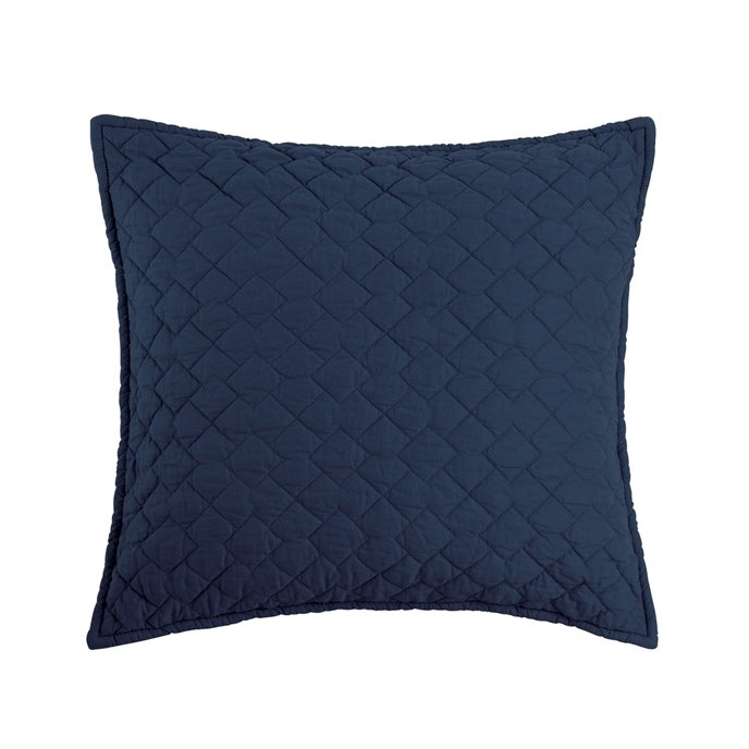 Regent Indigo Quilted Pillow Thumbnail