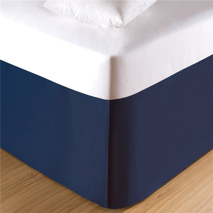 Navy Twin Bed Skirt Thumbnail