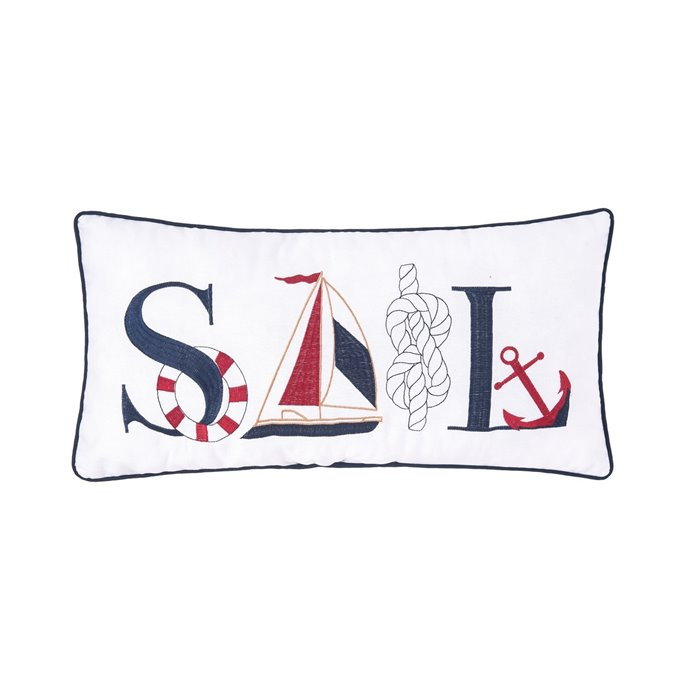 Sail Embroidered Pillow Thumbnail