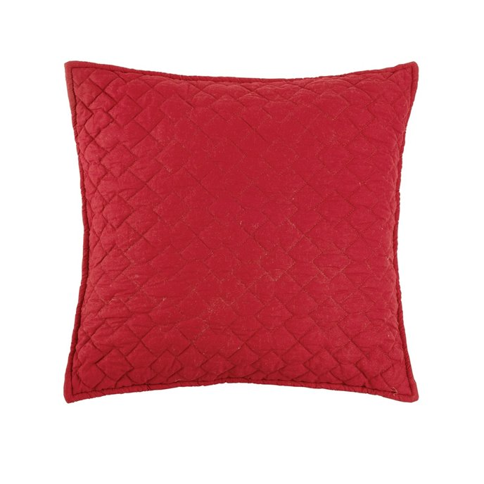 Regent Scarlet Quilted Pillow Thumbnail