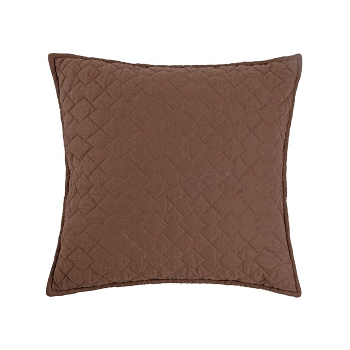 Regent Cocoa Quilted Pillow Thumbnail