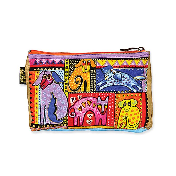 Laurel Burch Dog Tales Cosmetic Bag - multicolor Thumbnail