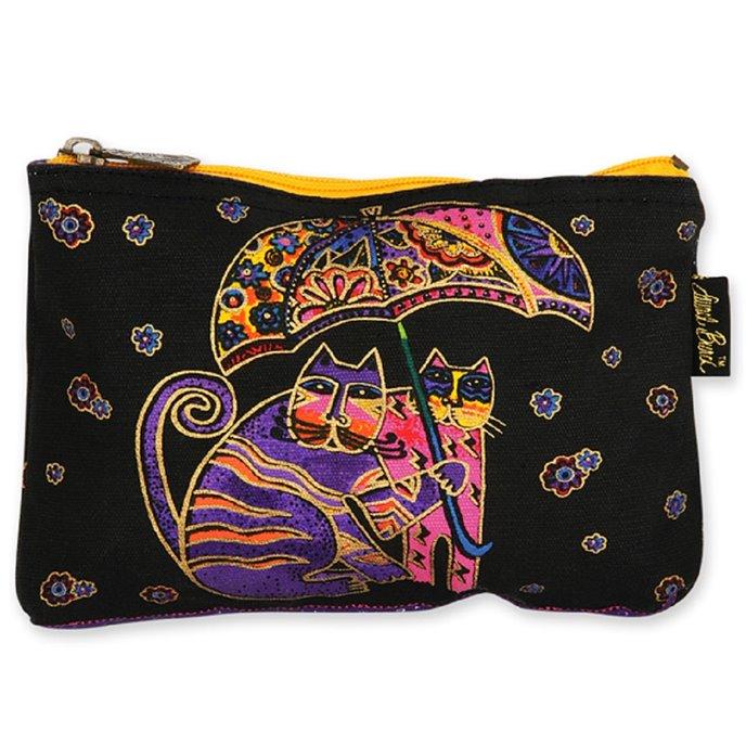Laurel Burch Feline Friends Cosmetic Bag - umbrella Thumbnail