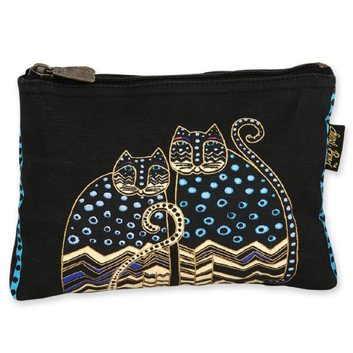 Laurel Burch Feline Friends Cosmetic Bag - polkadot Thumbnail