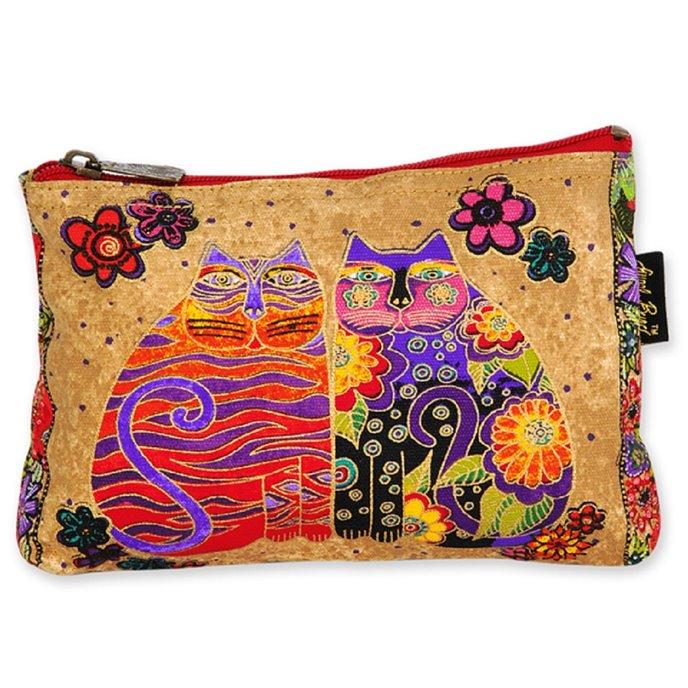 Laurel Burch Feline Friends Cosmetic Bag - flower child Thumbnail