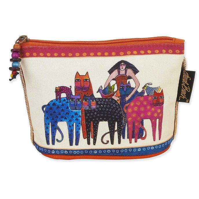 Laurel Burch Feline Mini Cosmetic Bag - large cats Thumbnail