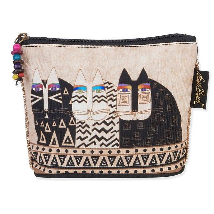 Laurel Burch Feline Mini Cosmetic Bag - wild cats Thumbnail