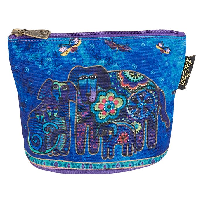 Laurel Burch Canine Friends Mini Cosmetic Bag - royal blue Thumbnail