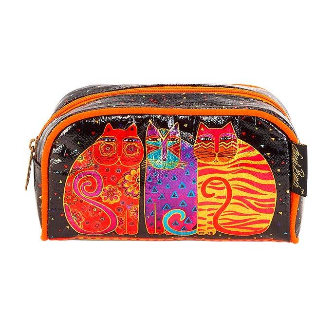 Laurel Burch Feline Foil Cosmetic Case 01 Thumbnail