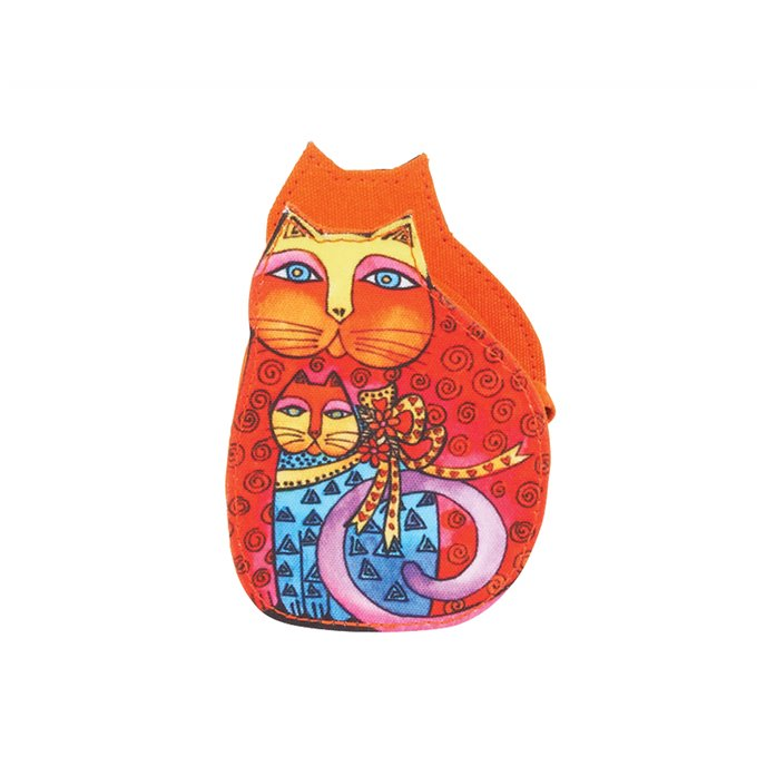 Laurel Burch Mother Daughter Cat Coin Purse - multicolor Thumbnail
