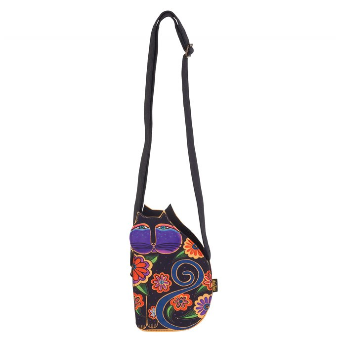 Laurel Burch Feline Family Cut Out Crossbody in Black Thumbnail