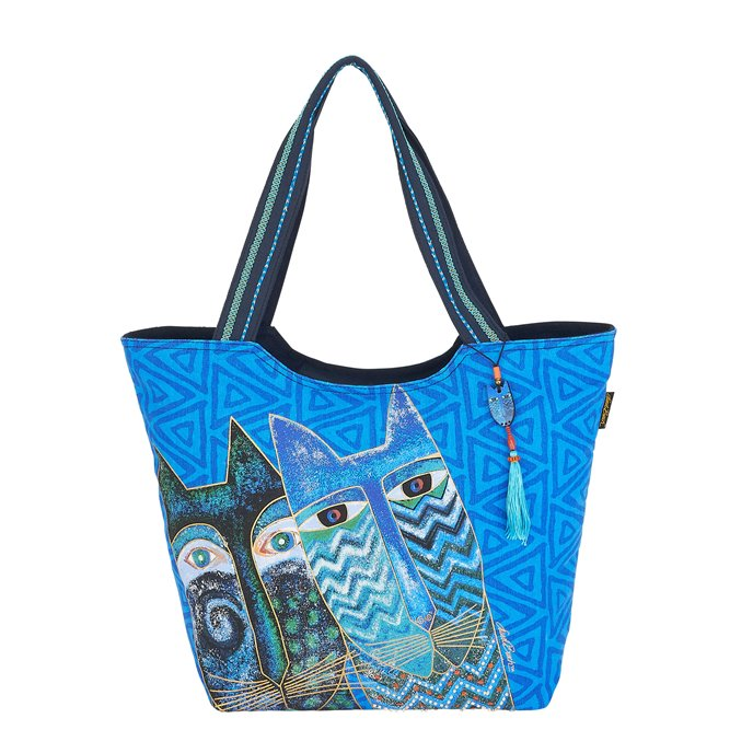 Laurel Burch Blue Cats Large Scoop Tote Thumbnail