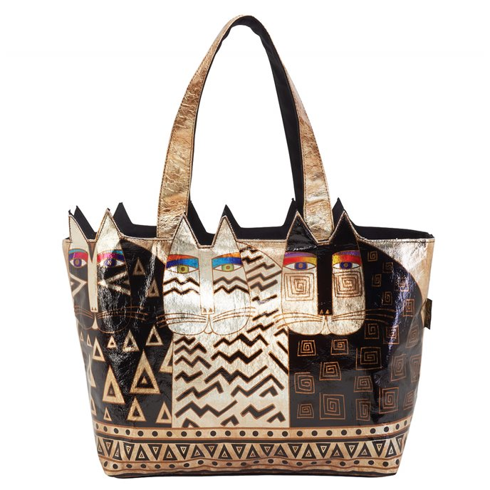 Laurel Burch Wild Cats Large Foiled Cut Out Tote Thumbnail
