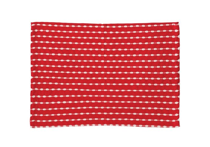 Red & White Cotton Woven Placemat Thumbnail