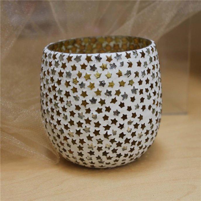 Stars Glass Mosaic Tealight Holder Thumbnail