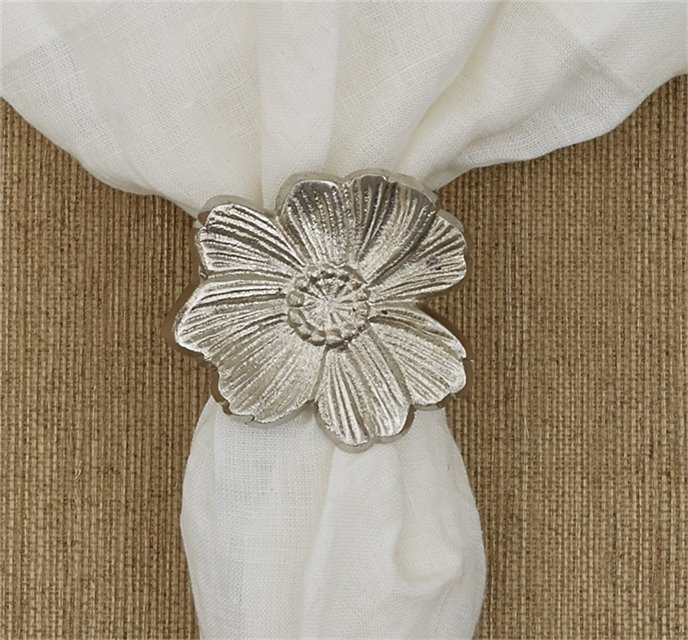 Metal Flower Napkin Ring Thumbnail