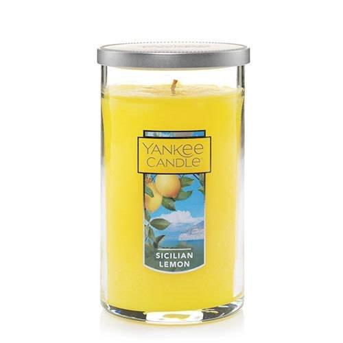 Yankee Candle Sicilian Lemon Medium Perfect Pillar Candle Thumbnail