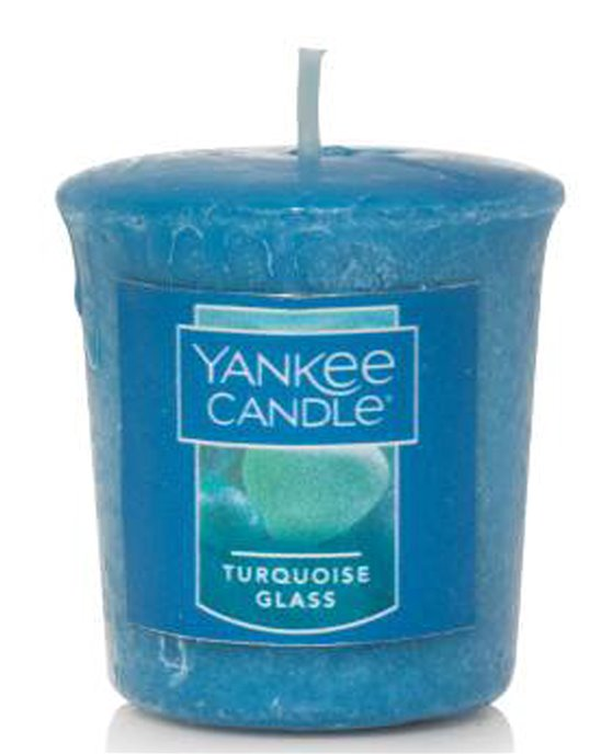 Yankee Candle Turquoise Glass Sampler Votive Thumbnail