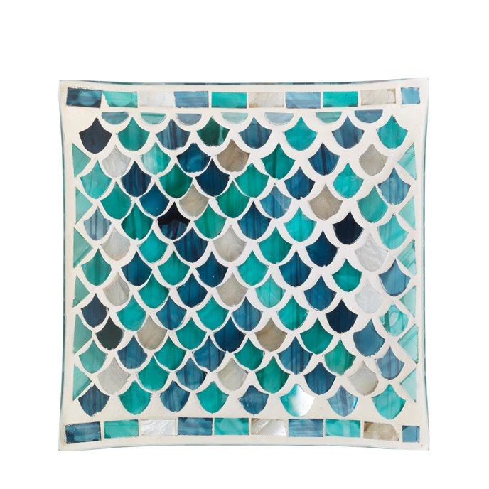 Yankee Candle Fresh Ocean Mosaic Candle Plate Thumbnail
