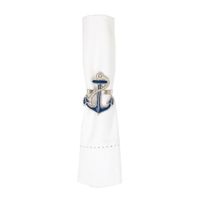 Anchor Enameled Napkin Ring Thumbnail