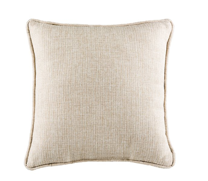 Belmont Metal Ivory Square Pillow Thumbnail