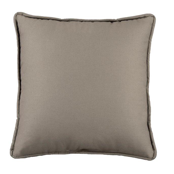 Belmont Metal Gray Square Pillow Thumbnail
