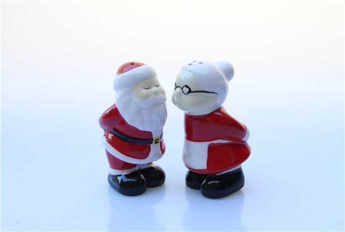 Ceramic Santa and Mrs. Claus Salt & Pepper Set Thumbnail