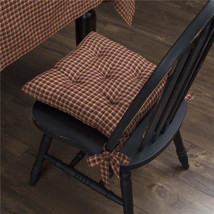 Patriotic Patch Plaid Chair Pad Thumbnail