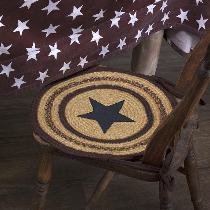 Potomac Jute Applique Star Chair Pad Set of 6 Thumbnail