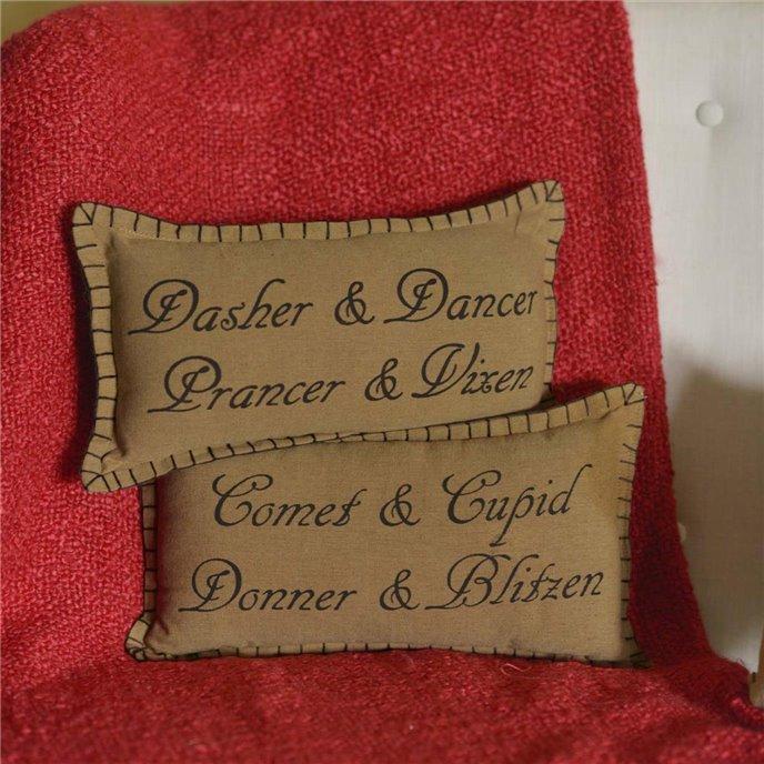 Prancer Pillow Set of 2 7x13 Thumbnail