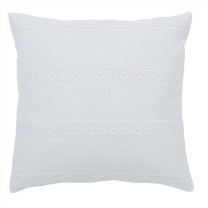 Quinn White Pillow Cover 18x18 Thumbnail