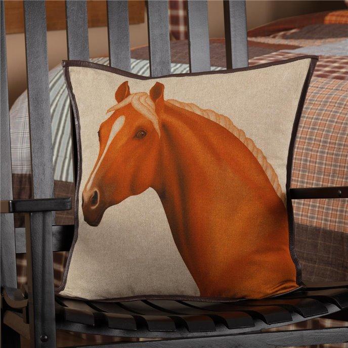 Rory Horse Pillow 18x18 Thumbnail