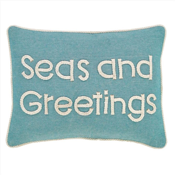 Sanbourne Seas and Greetings Pillow 14x18 Thumbnail