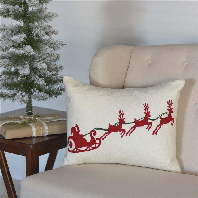 Santa Sleigh Pillow 14x18 Thumbnail