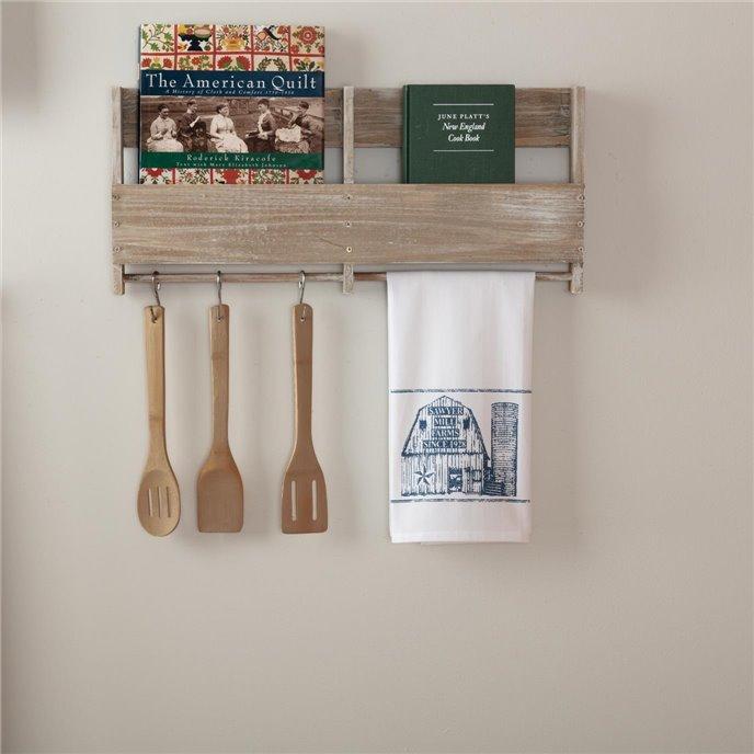 Sawyer Mill Blue Barn Muslin Bleached White Tea Towel 19x28 Thumbnail