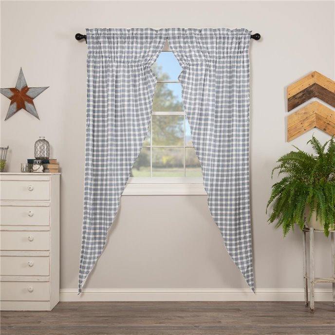 Sawyer Mill Blue Plaid Prairie Long Panel Set of 2 84x36x18 Thumbnail