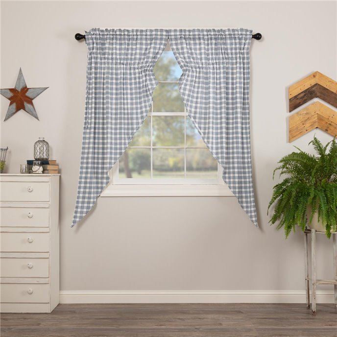 Sawyer Mill Blue Plaid Prairie Short Panel Set of 2 63x36x18 Thumbnail