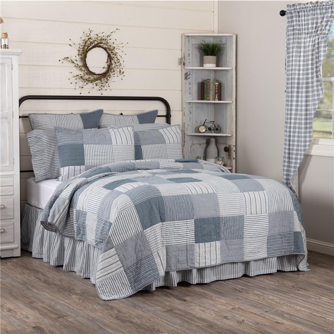 Sawyer Mill Blue Twin Quilt 68Wx86L Thumbnail