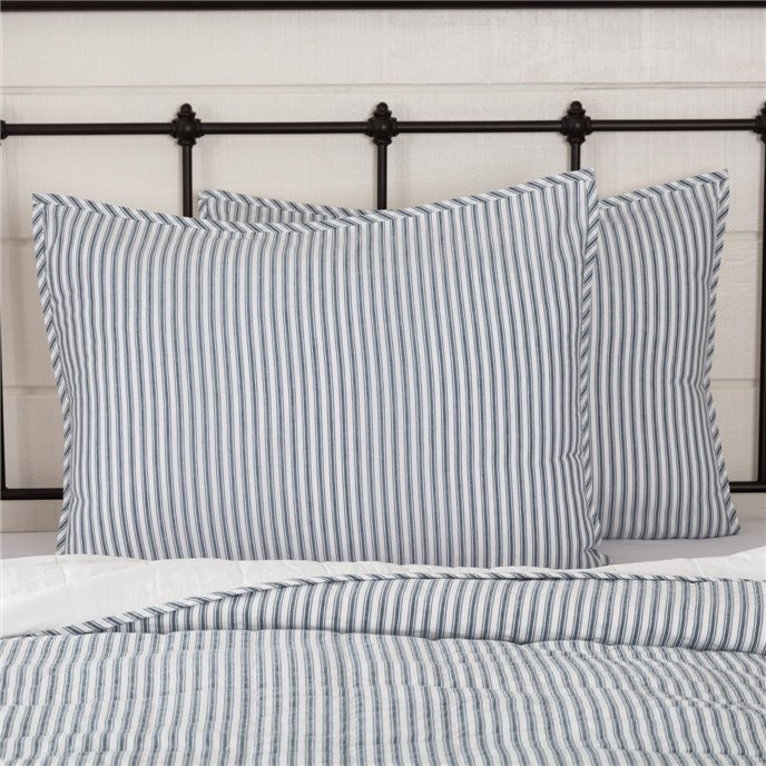 Sawyer Mill Blue Ticking Stripe Standard Sham 21x27 Thumbnail