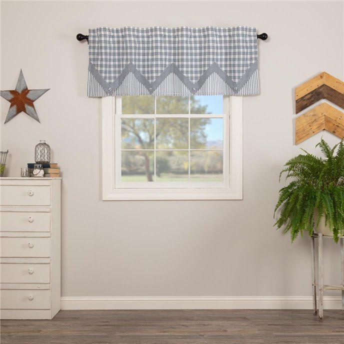 Sawyer Mill Blue Valance Layered 20x60 Thumbnail