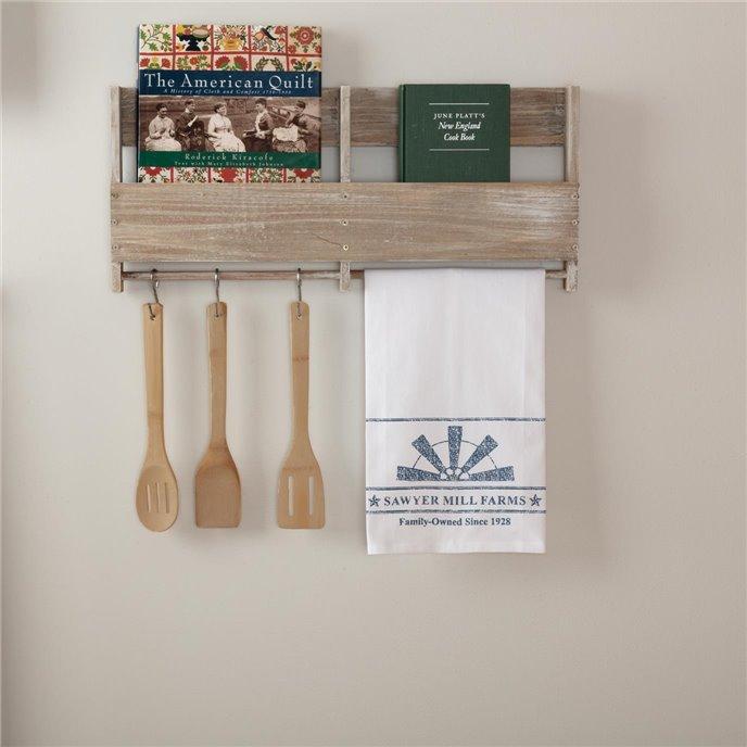 Sawyer Mill Blue Windmill Blade Muslin Bleached White Tea Towel 19x28 Thumbnail