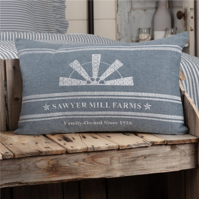 Sawyer Mill Blue Windmill Blade Pillow 14x22 Thumbnail