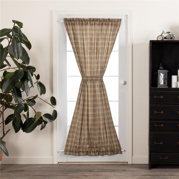 Sawyer Mill Charcoal Plaid Door Panel 72x40 Thumbnail