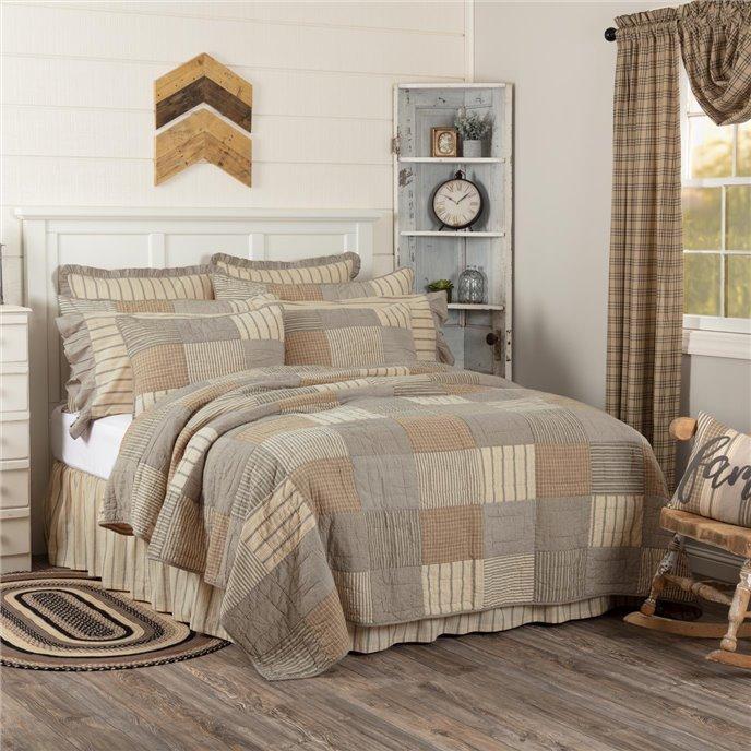 Sawyer Mill Charcoal California King Quilt 130Wx115L Thumbnail