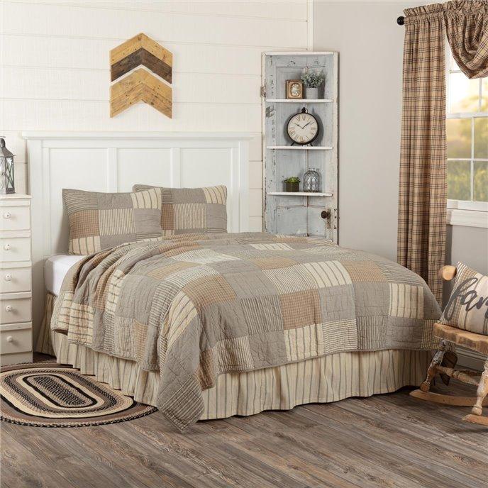 Sawyer Mill Charcoal Twin Quilt Set; 1-Quilt 68Wx86L w/1 Sham 21x27 Thumbnail
